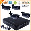 Wifi cámara IP Kit sistema 8CH NVR cámara sistema independiente de 8CH NVR 4 inalámbrica / con cable IP cámara 720 P Kit de cámara de seguridad