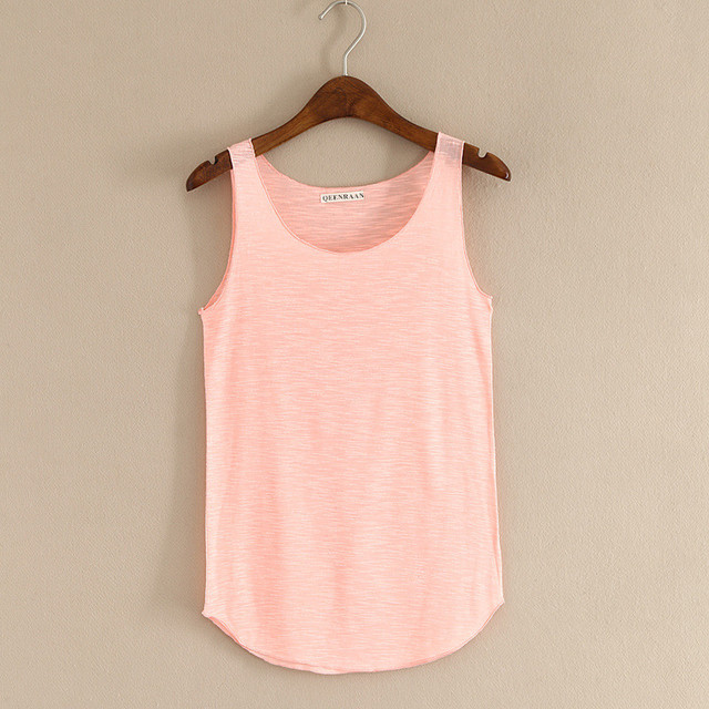 Spring Summer New Fitness Tank Tops Women Sleeveless Round Neck Loose T Shirt Ladies Vest Singlets Slim T-shirts Woman Clothes 4