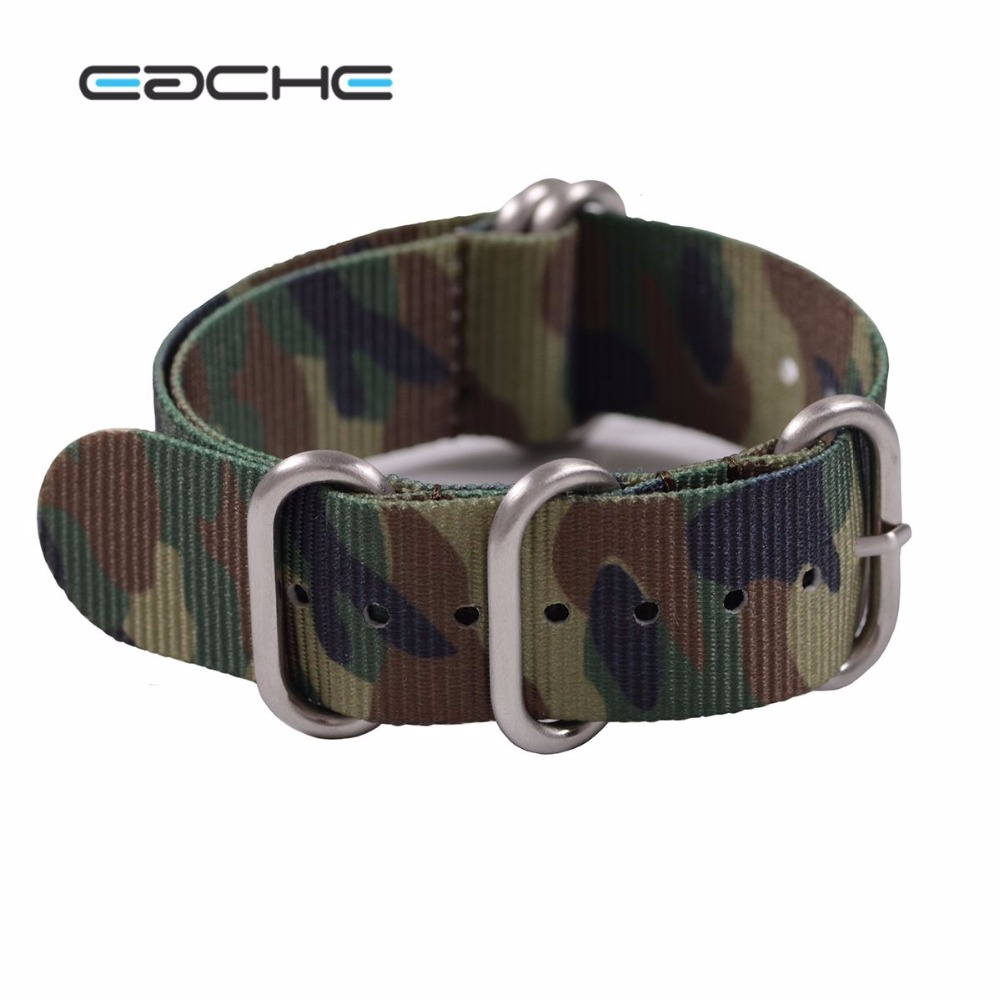 EACHE High Quality Nylon Zulu Watch Band straps  With Stainless Steel Silver Buckles 20mm 22mm wholesale price high quality fashion high quality stainless steel watch band straps bracelet watchband for fitbit charge 2 watch