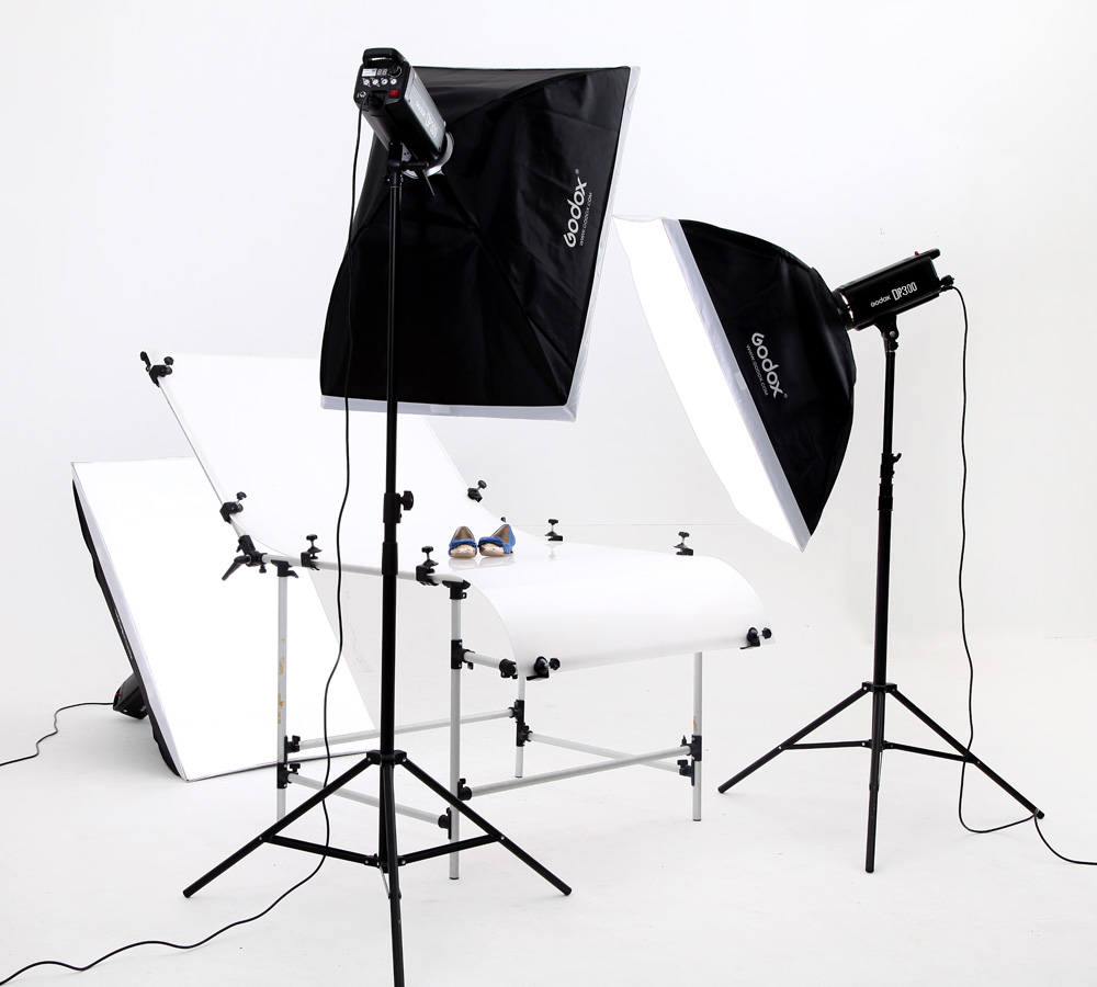 godox dp300w softbox photography light photographic equipment lamp shooting station set studio lights