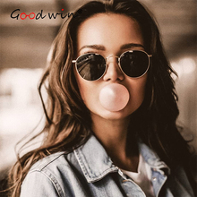 Good Win Mirror Sun Glasses Women Retro Vintage Round Sunglasses Women Luxury Brand Designer Men Sunglasses For Male Ladies Pink цена 2017