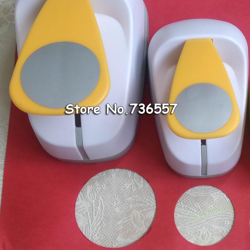 3.8cm 2.5cm Round Shape Craft Punch Set Children Manual DIY Hole Punches Cortador De Papel De Scrapbook School Circle Punch