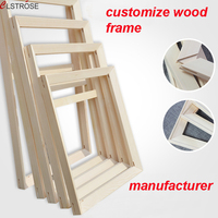 Clstrose إطار الخشب عالية الجودة كثير حجم المتاحة ل تخصيص حجم مع مؤطرة قماش اللوحة النفط جدار الصور عالية