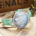 Miss Keke Cute Children Quartz Watch Diamond 3D Clay Big Ben Designer Cartoon Watches Girls Kids Casual Leather Wristwatch 1046