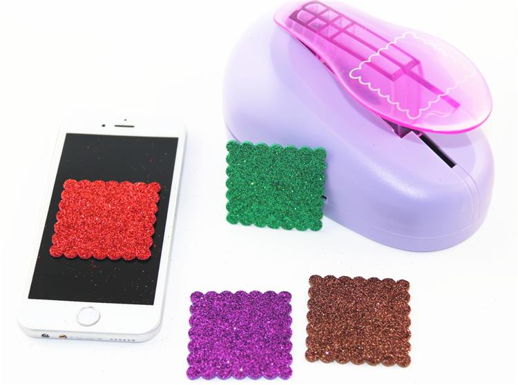 Free Ship 60mm Square Wave  Puncher Scrapbooking Punches Craft Punch Perfurador Paper Punch Papel Para Scrapbook R349