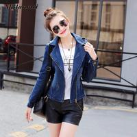 2018 Women Denim Jacket Coat Casual Jean Jackets Vintage Basic Coat Lady Windbreaker Pocket Zipper Autumn Winter Female Clothing