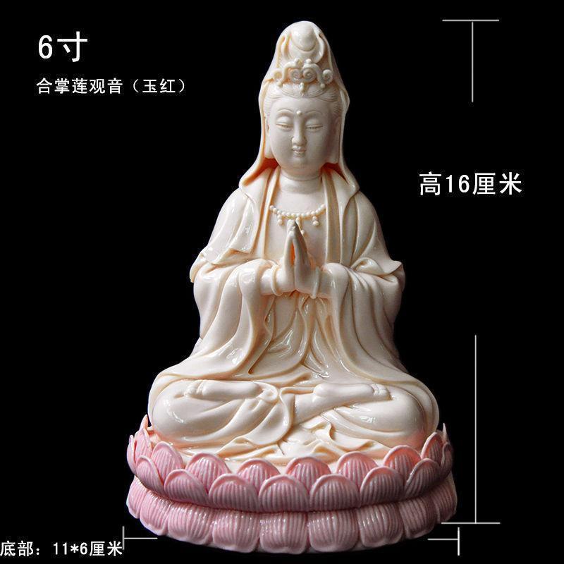 8 porcelaine chinoise JADE rouge fermoir mains assis STATUE de KWAN-YIN de LOTUS8 porcelaine chinoise JADE rouge fermoir mains assis STATUE de KWAN-YIN de LOTUS