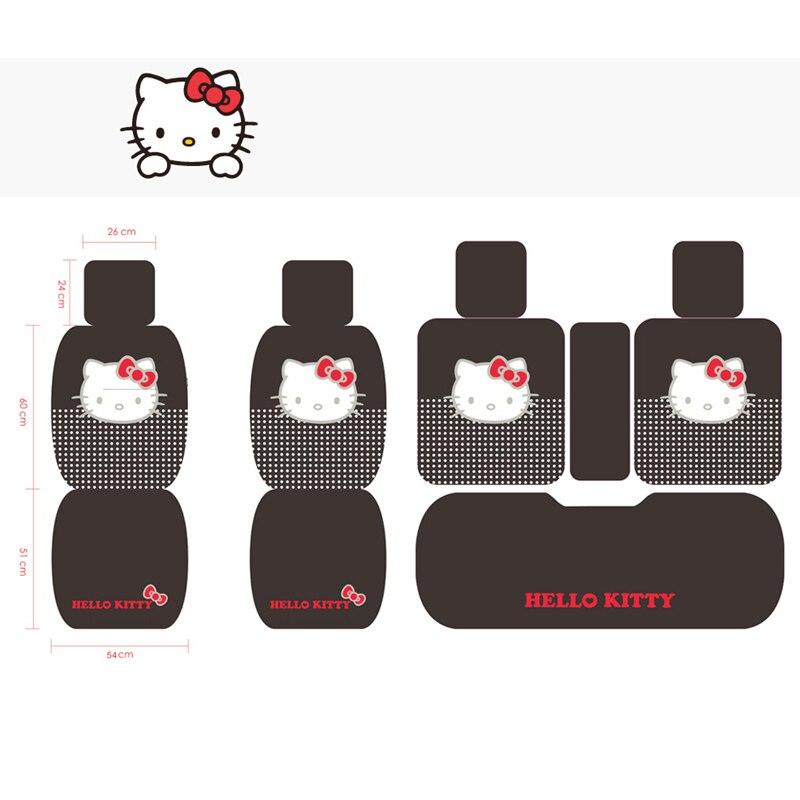 Cartoon Hello Kitty rose automobiles siège couvre coton quatre saisons femmes auto-housses coussin set accessoires de voiture mignon pour les filles - 6