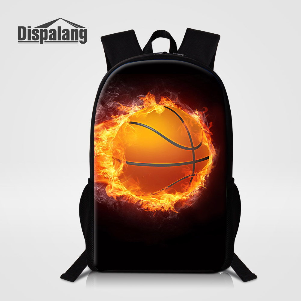 Dispalang Personalized Design Basketballs Mens School Backpacks Soccers Print Schoolbags Bookbags Boys Mochila Rugtas Bagpacks