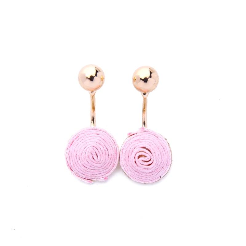 Pink & Black Handmade Ethnic Earrings for Women Boho Wax Thread Weaved Hanging Earrings Jackets Wholesale