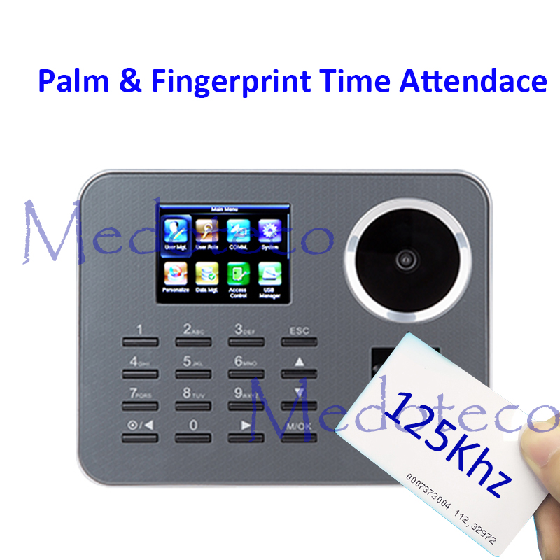 New Iclock360-P Biometric Palme Time Attendance BioID Fingerprint Electronic Time Recording Rfid Card Attendance Machine