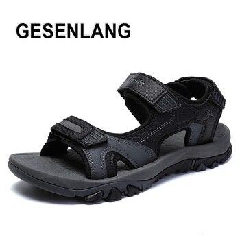 2019 été Hommes En Plein Air Sandales Respirant Léger Plage Baskets Anti-dérapant Portable Marche Homme Chaussures à Bout Ouvert Pêcheur Chaussures