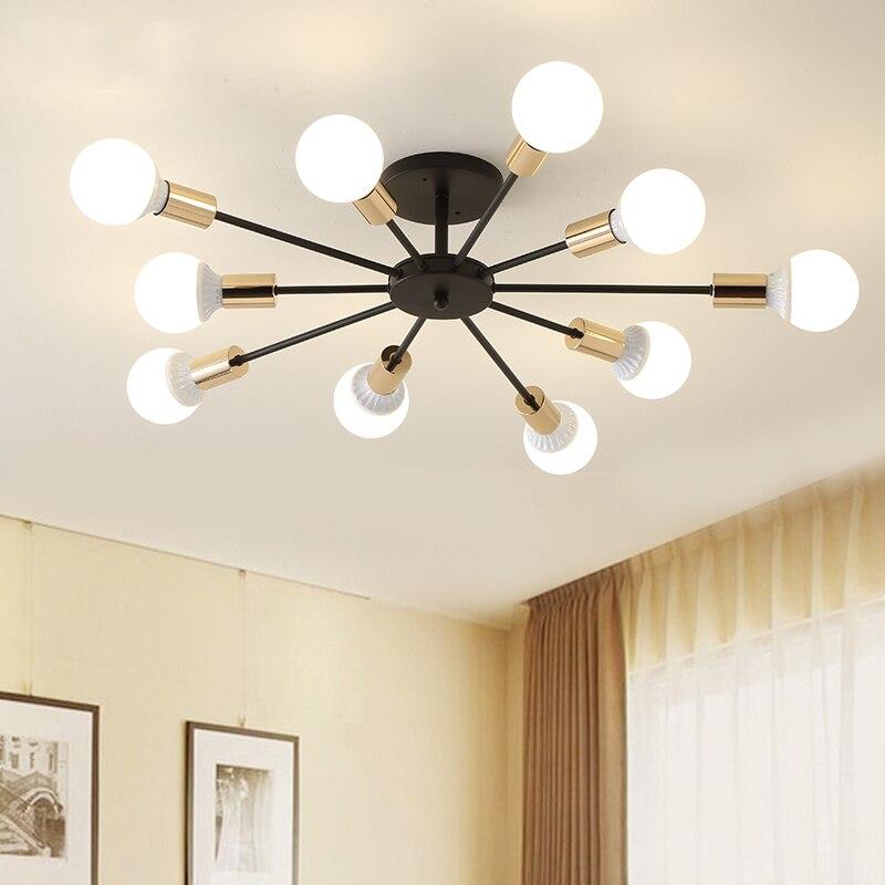 85-265V E27 Chander Lights Vintag LED Chandeliers Industrial Edison 6 8 10 Lights Chandelier Fixture White Not Included Bulb