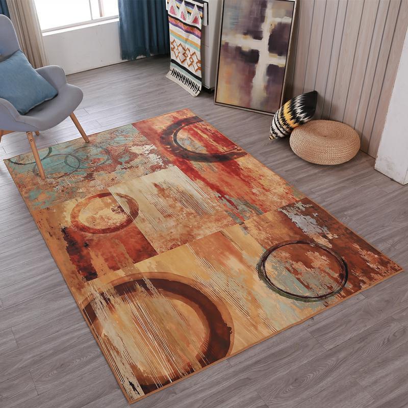 Nordique minimaliste table basse salon tapis imprimé enfants ramper tapis personnalisé chambre tapis de sol en peluche tapis antidérapant - 5
