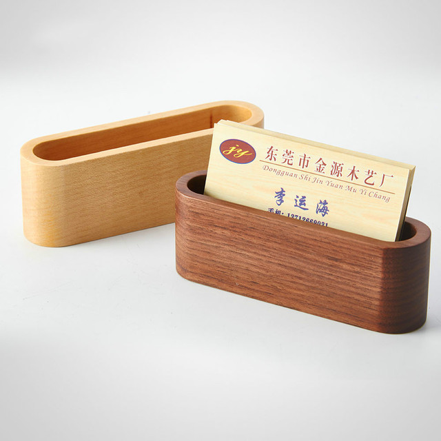 Kreative Holz Visitenkarte Box Name Kartenhalter Desktop Schmuck Holz  Aufbewahrungsbox
