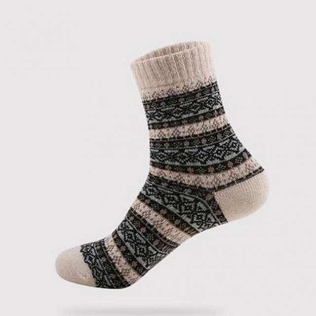 1 Pair New Men Socks Retro Ethnic Socks Comfortable Socks Warm Winter Socks