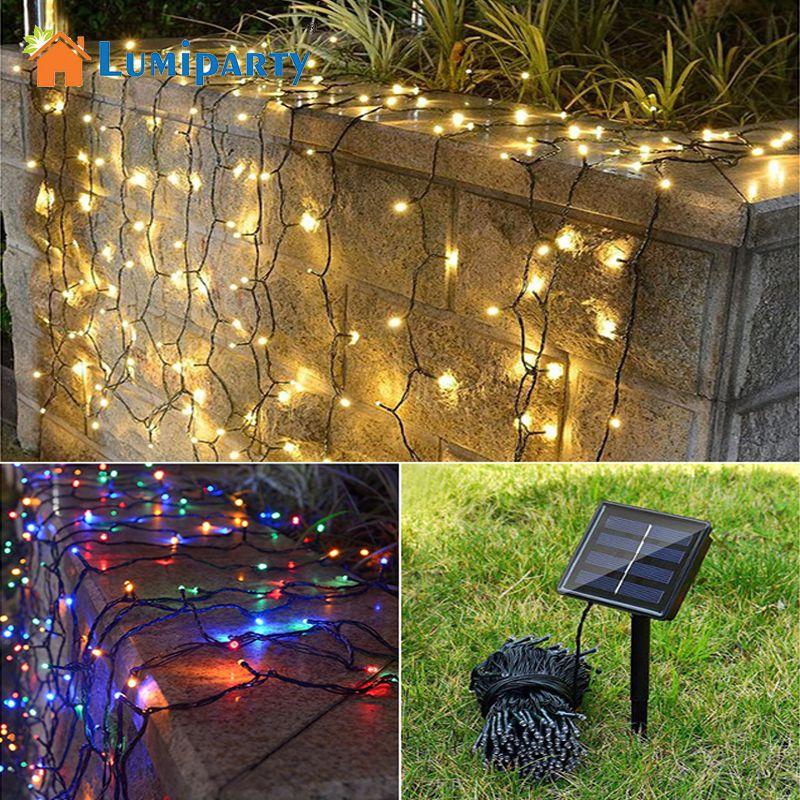 LumiParty 50/100 LED Solar Power Garden String Licht Weihnachten Lichterkette Wasserdicht Outdoor Weihnachten solar lichter Baum Decor Lampe