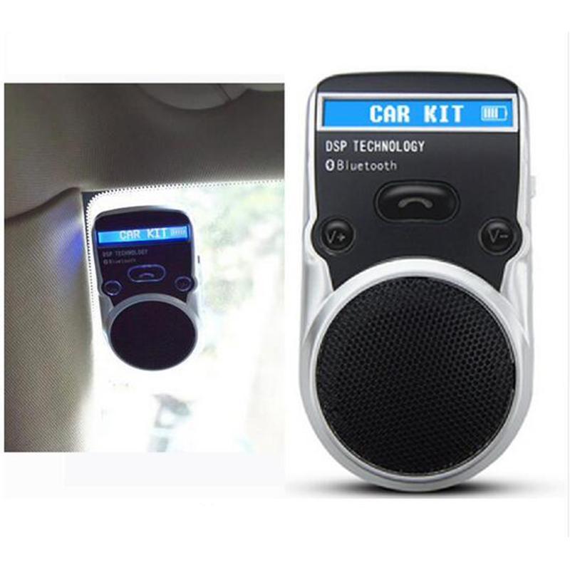 Gakaki LCD Bluetooth Car Kit Hands Free Adapter AUX Receiver Solar Power Handsfree Speakerphone For Cigarette
