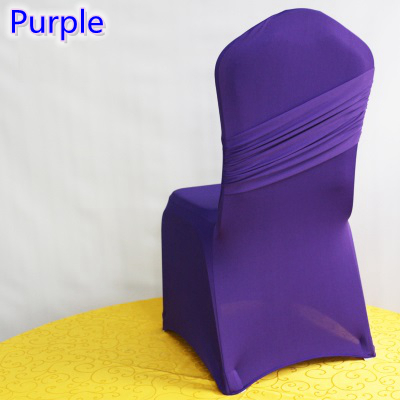 Sofa Chair Covers For Sale Pub Height Chairs Target Purple Colour Universal Lycra One Cross Cover Spandex Pleated Luxury Wedding ...