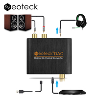 3 5mm Digital To Analog Analogue Audio Converter With USB Cable Toslink Optical To Analog L