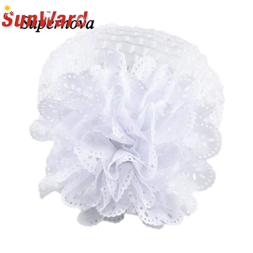 1c7e4bb1204 Lace Flower Hairband Headband Dress Up girl hair accessories headband cute  hair band newborn floral headband