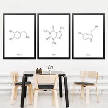 цена на Caffeine Molecule Print Coffee Sign Coffee Artwork Coffee Art Print Poster Coffee Lovers Gift Chemistry Gift