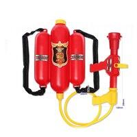 Feuerwehrmann Sam Rot Wasser Spritze Pistole Druck Spielzeug Wasserpistole mit Rucksack Outdoor-spielzeug