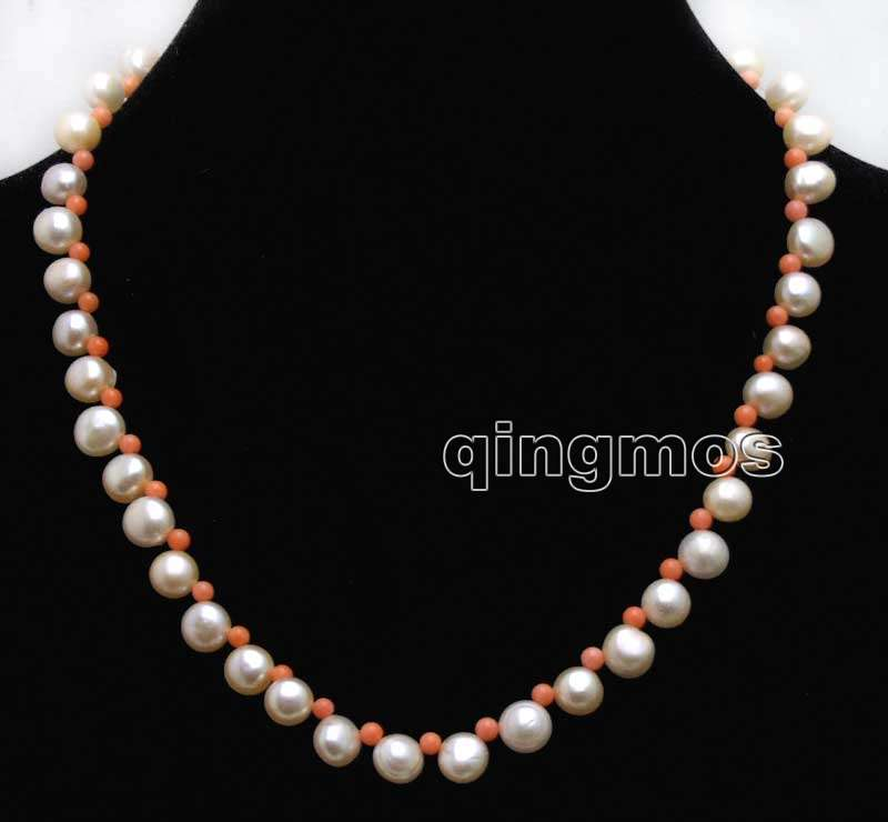 Necklaces & Pendants Hearty Small 7-8mm Pink Flat Round Side Drilled Natural Fw Pearl And 3-4mm Pink Coral 17 Necklace-nec6397 Chain Necklaces