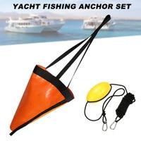 24/32 Inch Sea Anchor Drift Sock Trolling Drift Sock Drogue with Kayak Tow Rope Line Buoy Ball YS BUY