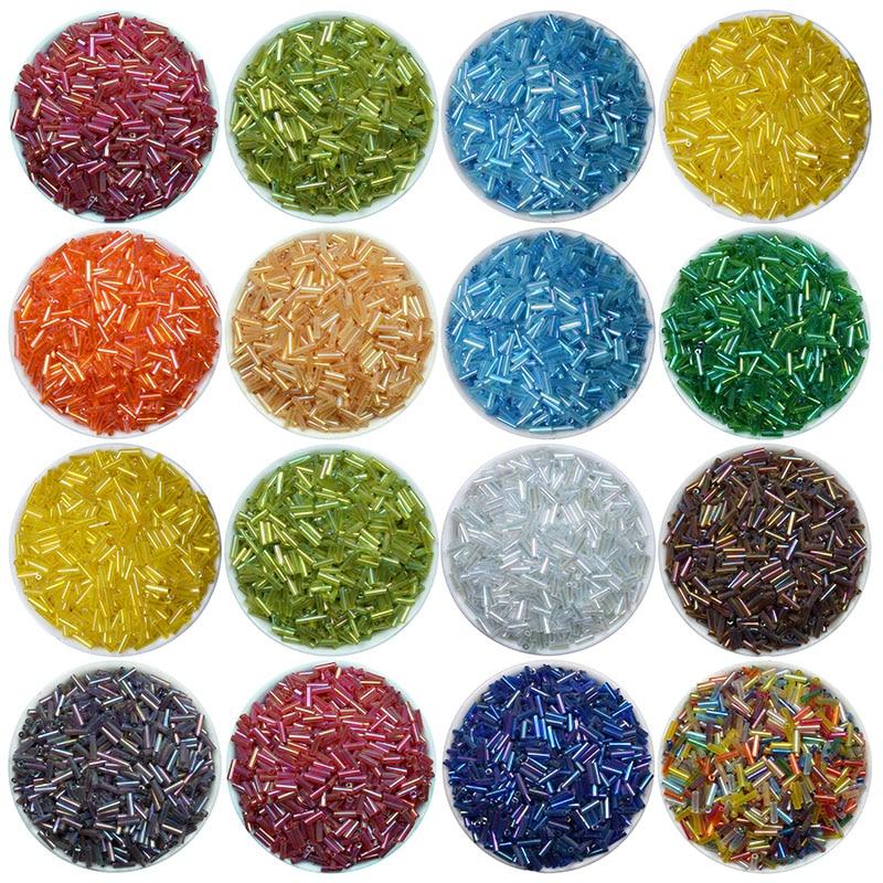 New Hot 2x6mm 400 pcs Glass Tube Bugle Beads Jewelry Making Beads wholesale #03