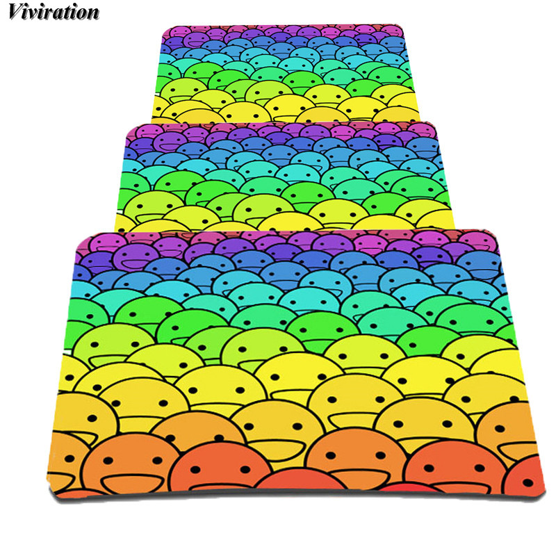 Viviration Ultra Soft Natural Rubber Gaming Mousepad Mat Popular Office Tablet PC Computer Mouse Pad Mat 2018 Fashion Printing