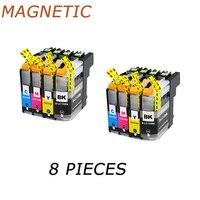 Impressora 8 peças lc133 cartuchos de tinta compatível para o irmão MFC-J245 j470dw j475dw j650dw j870dw j4410dw j4510dw impressoras