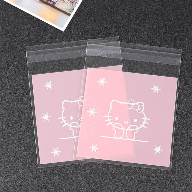 100Pcs 10x13cm Pink Star Hello Kitty Bowknot Self Adhesive Bag Cookie Food  Packaging Plastic OPP Bag Jewelry Gift Poly Bags-in Gift Bags   Wrapping  Supplies ... a9f1c4e1304be