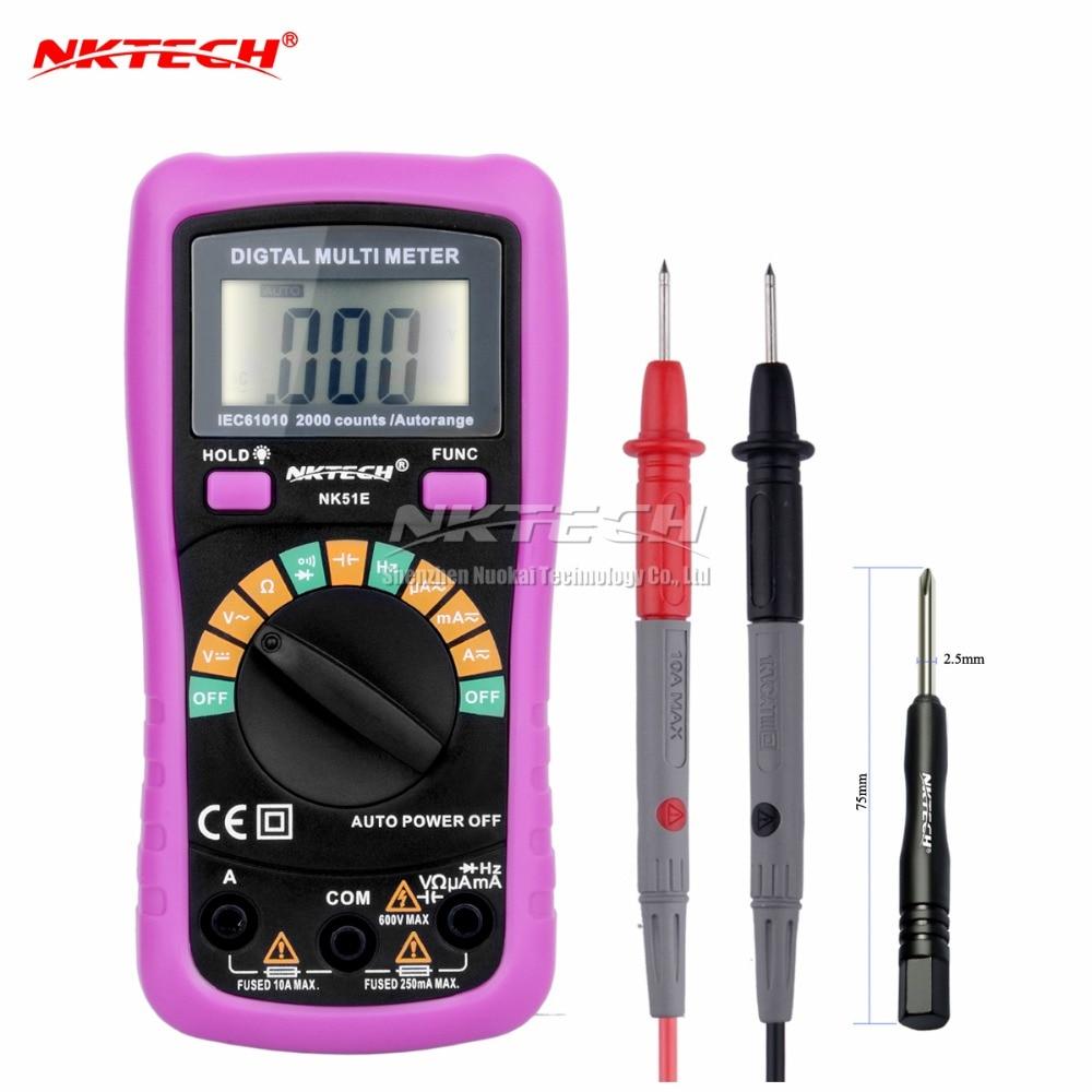 NEW NK51E Multimeter VS UT136B MS8233D With 2000uF Capacitance and Frequncy Measurement Auto Range Digital Multimeter