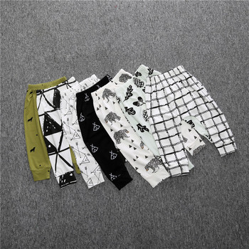 Print Pattern Cotton Baby Trousers Babys Boys Girls PP Pants For Sports Baby Harem Pants Kids For Newborn Girl Boy Clothing 1