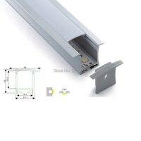 10X1 M Setleri/Lot Gömme montaj alüminyum profil konut ve led profil için ışık çubuğu tavan veya gömme duvar lambalar