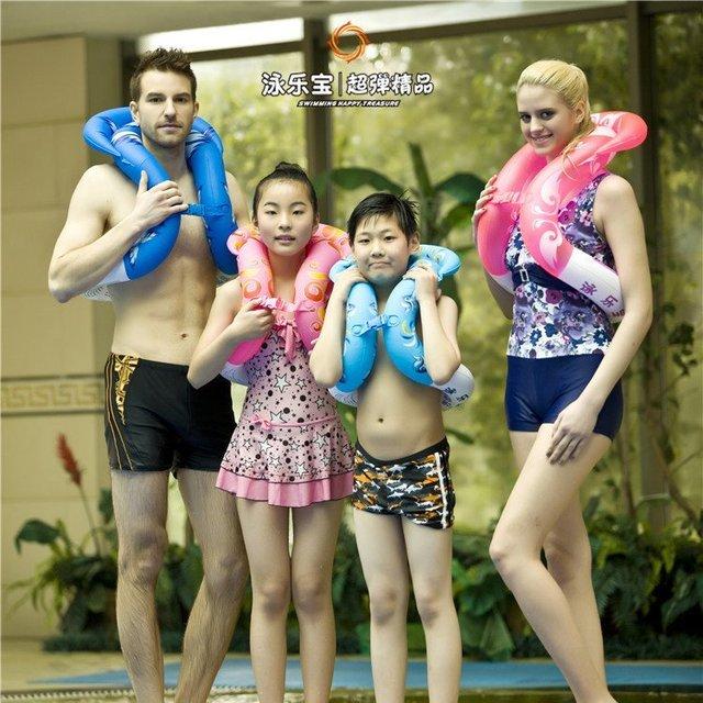 4O. upgrade versión anillos de Natación para adultos niños bebé juguete de la Piscina Inflable del agua asiento del flotador flotadores Brazo Círculo Libre gratis
