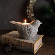 Silicone Concrete Mold 3D Bird Shape Candlestick Molds DIY Succulent Plants Making Mould Home Desk Decorating Tool