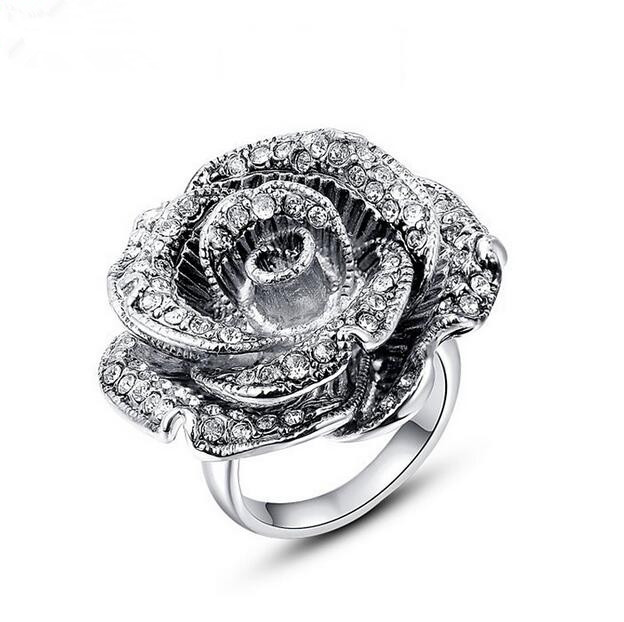 Popular Rose Shaped Engagement Ring Buy Cheap Rose Shaped
