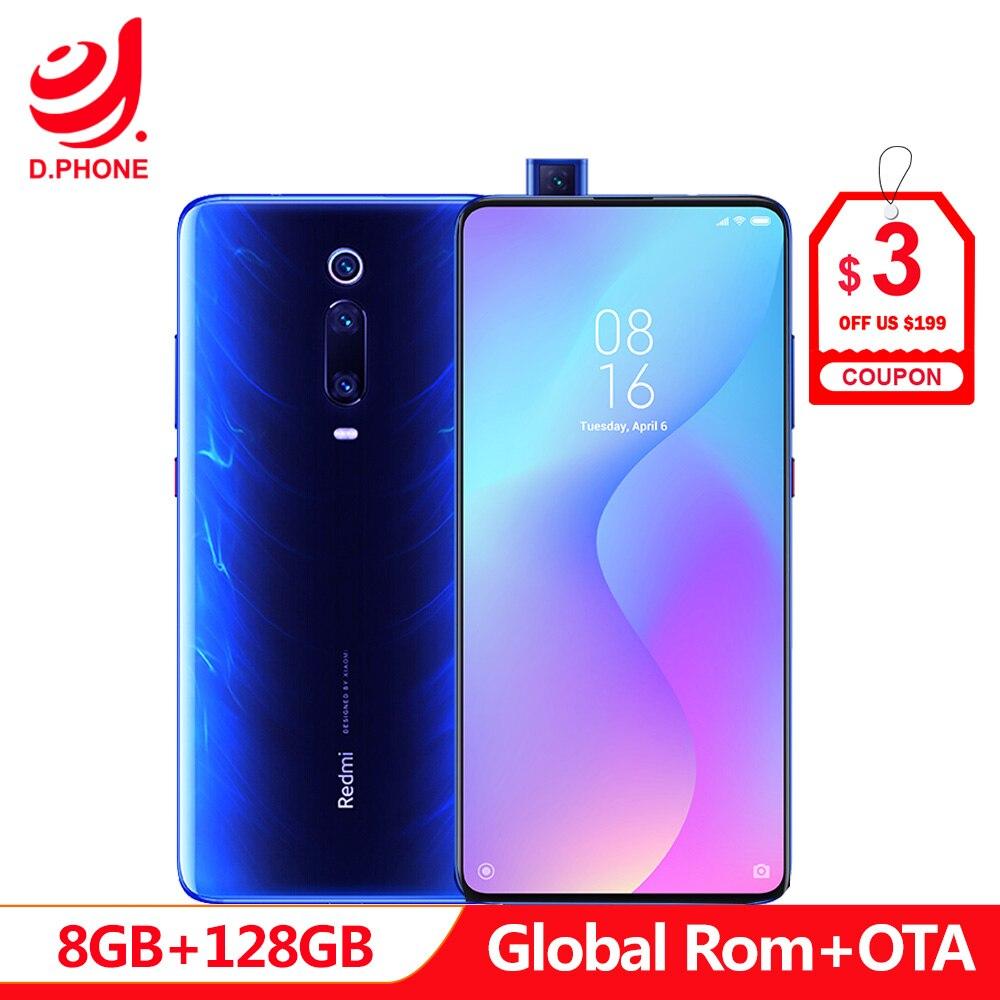 Support OTA Global Rom Xiaomi Redmi K20 Pro 8 GB 128 GB Snapdragon 855 Octa Core 4000 mAh caméra 48MP caméra arrière AMOLED Smartphone