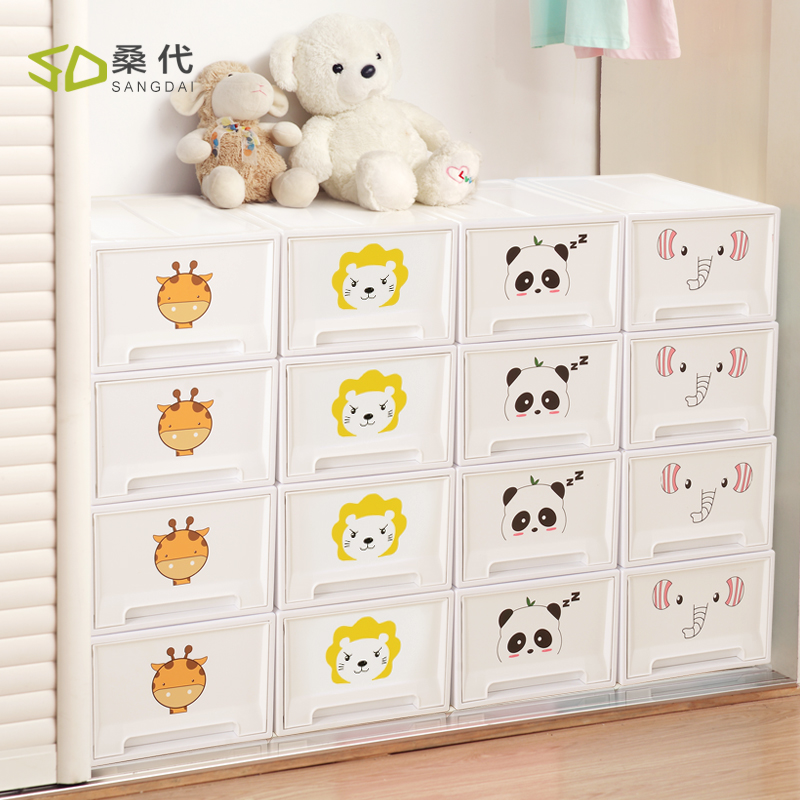 buy 1pcs plastic storage cabinets with drawers cartoon toy clothes underwear. Black Bedroom Furniture Sets. Home Design Ideas