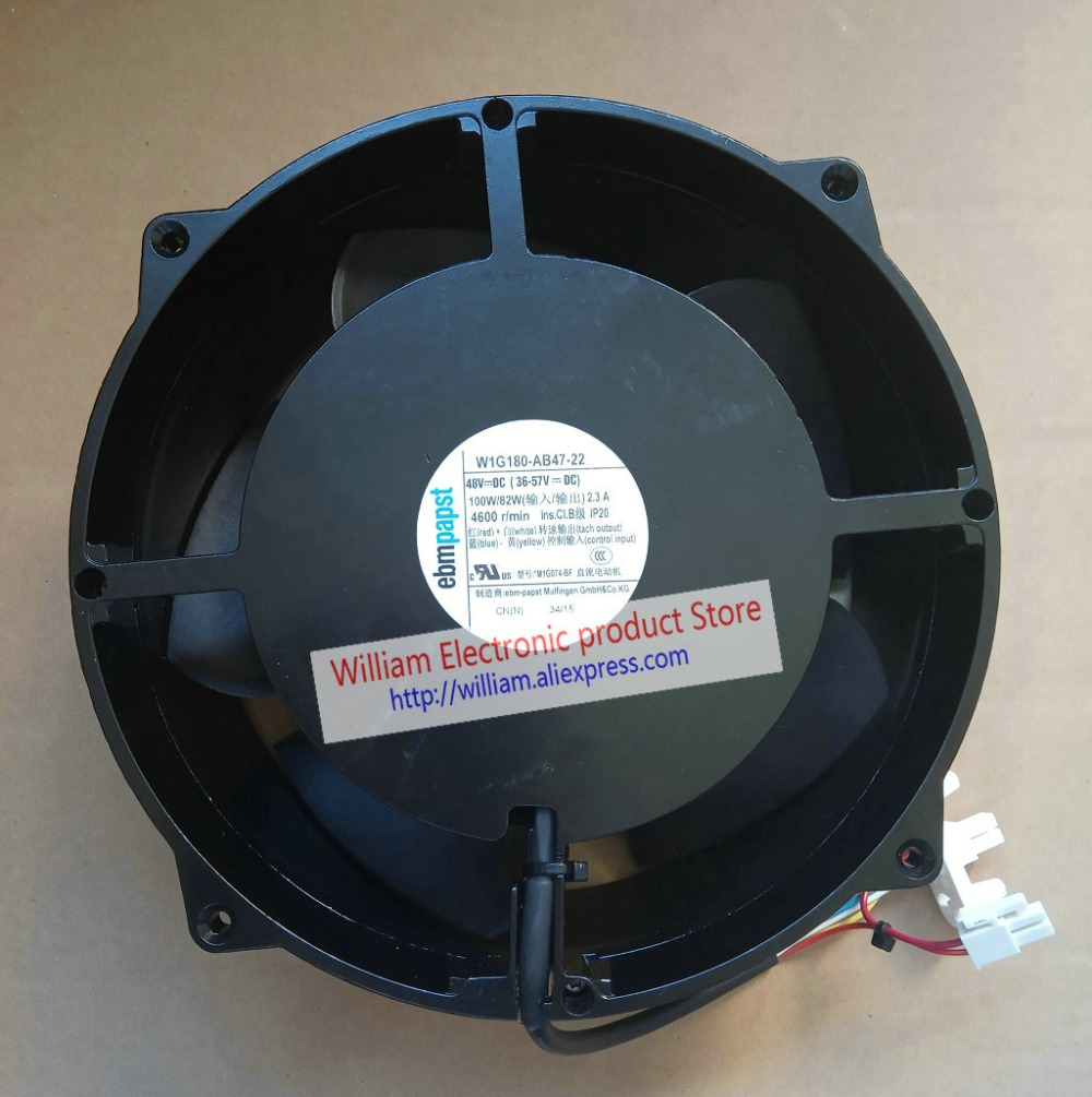 Original EBM Papst W1G180-AB47-22 DC48V 100W/82W 2.3A 4600r/min 200x70MM Devices Cooling fan ebmpapst w1g180 ab47 22 dc 48v 100w 200x200x70mm server round fan