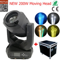 2pcs+flight case Gobos 200w Zoom Moving Head LED Lyre Disco Lighting Spot Beam Rotation Prism Luces Zoom Stage Lights