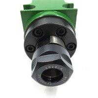 750 Вт 1HP Мощность головы ER20 патрон шпинделя блок 60 мм 80 мм механические шпинделя с ЧПУ бурения фрезерные скучно резки станок