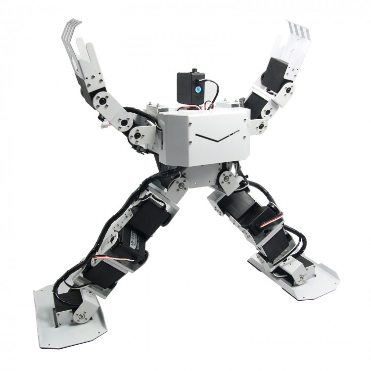 17DOF Biped Robotics Humanoid Robot Frame Full Kit with 17pcs Servo +  Controller Robo-Soul H3.0-white or red new 17 degrees of freedom humanoid biped robot teaching and research biped robot platform model no electronic control system