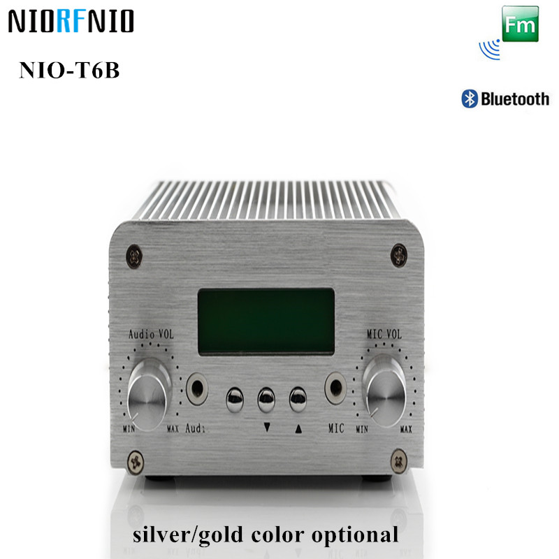 Free Shipping Professional NIO-T6B 1W/6W Silver Color Aluminum Amplifier Enclosure FM Broadcast Station 2017 new technology free shipping 1w 6w wireless mini power radio broadcast nio t6b pll fm transmitter with pc control