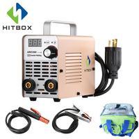 HITBOX MMA Welder Arc Welder Mini ARC200 Home Use Welding Tools Electric Welding Machine 40% Duty Cycle Easy to Control
