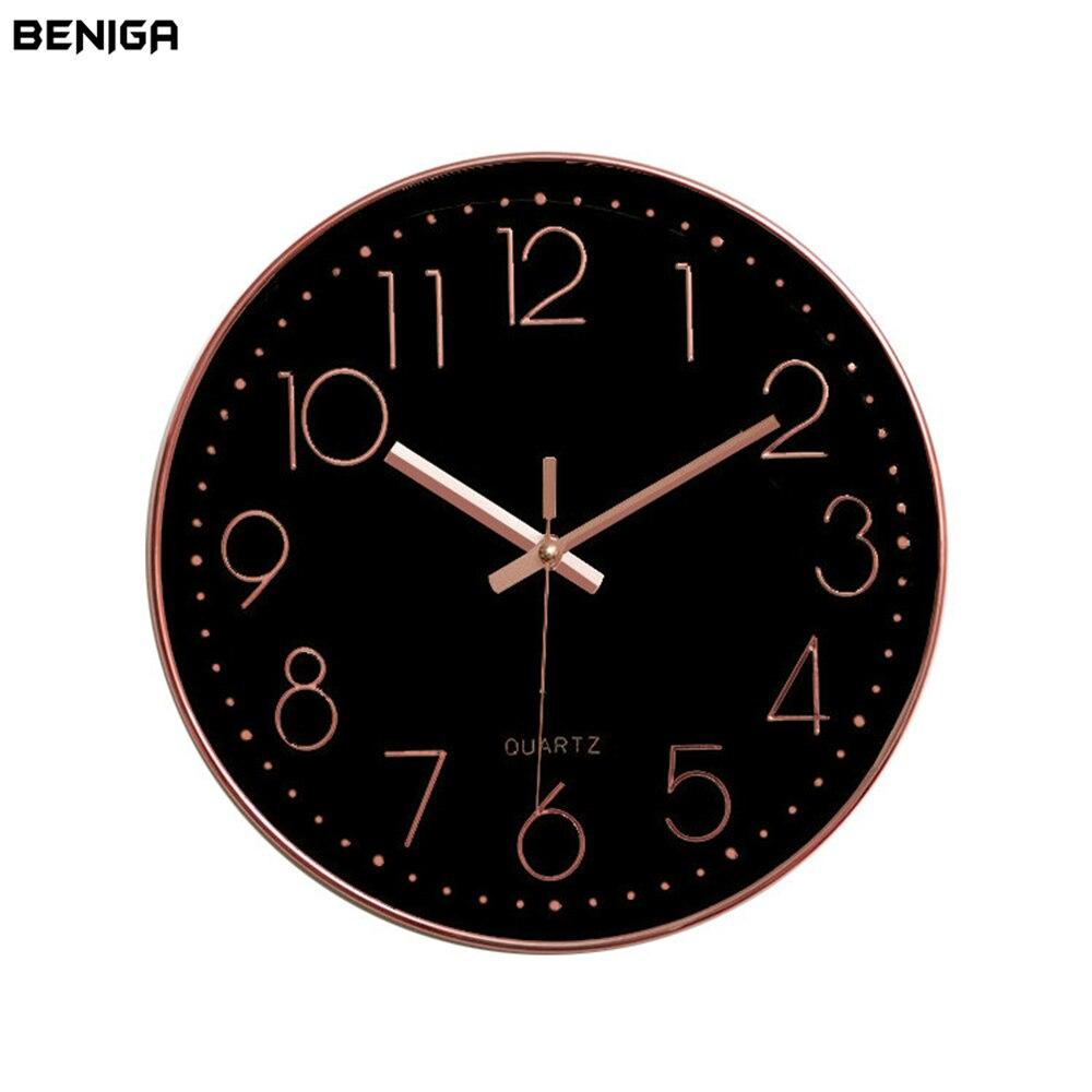 Casa Salle De Bain Rennes ~  Minimaliste Noir Or Rose Horloge Murale Color Vogue Europ Enne De