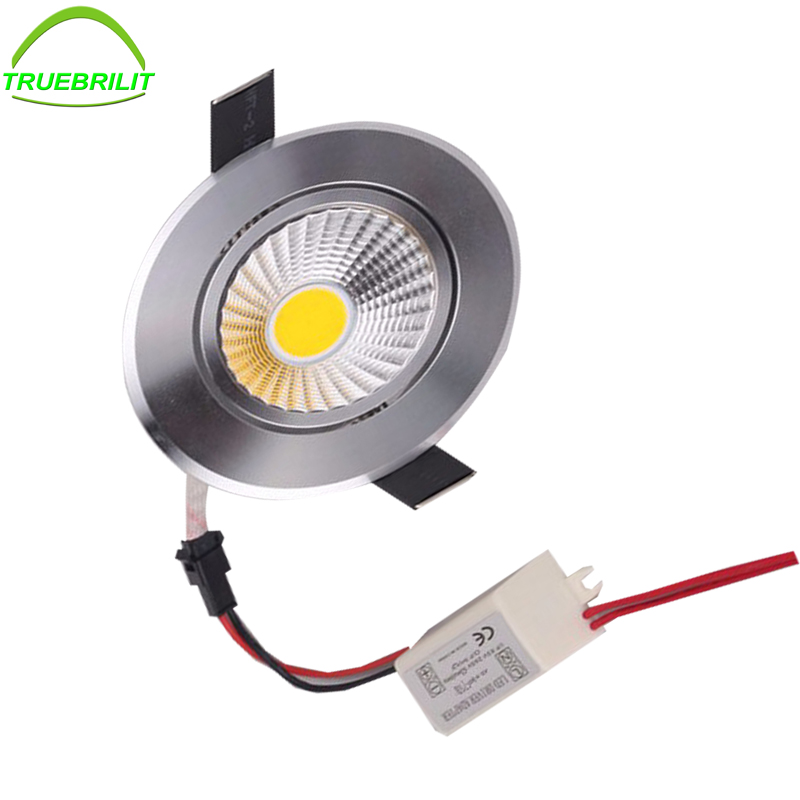 LED COB Downlights Dimmable 3W Recessed Ceiling Led Down Light Led Spot Light 55mm cut size image