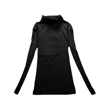 Autumn Winter Women Shirts Long Sleeve Turtleneck Tops Solid Color Basic T-